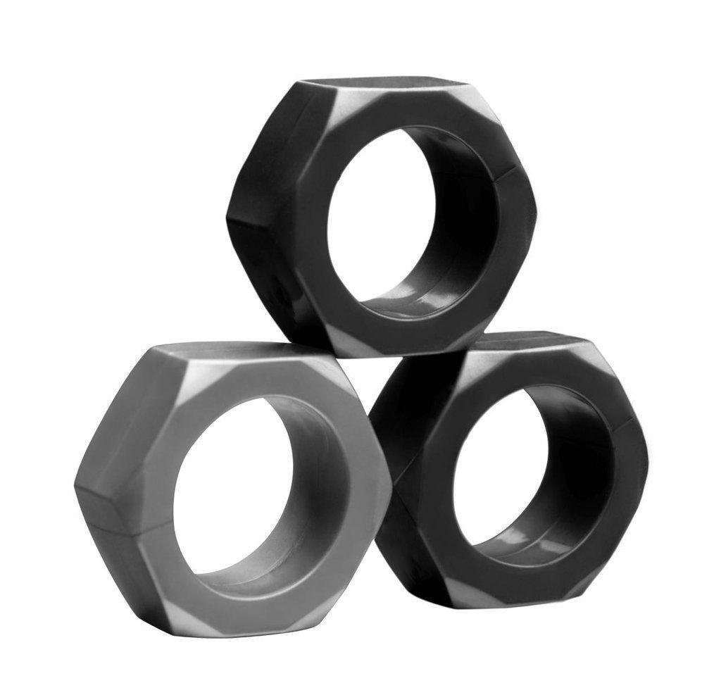 Набор из 3 эрекционных колец разного цвета-10502