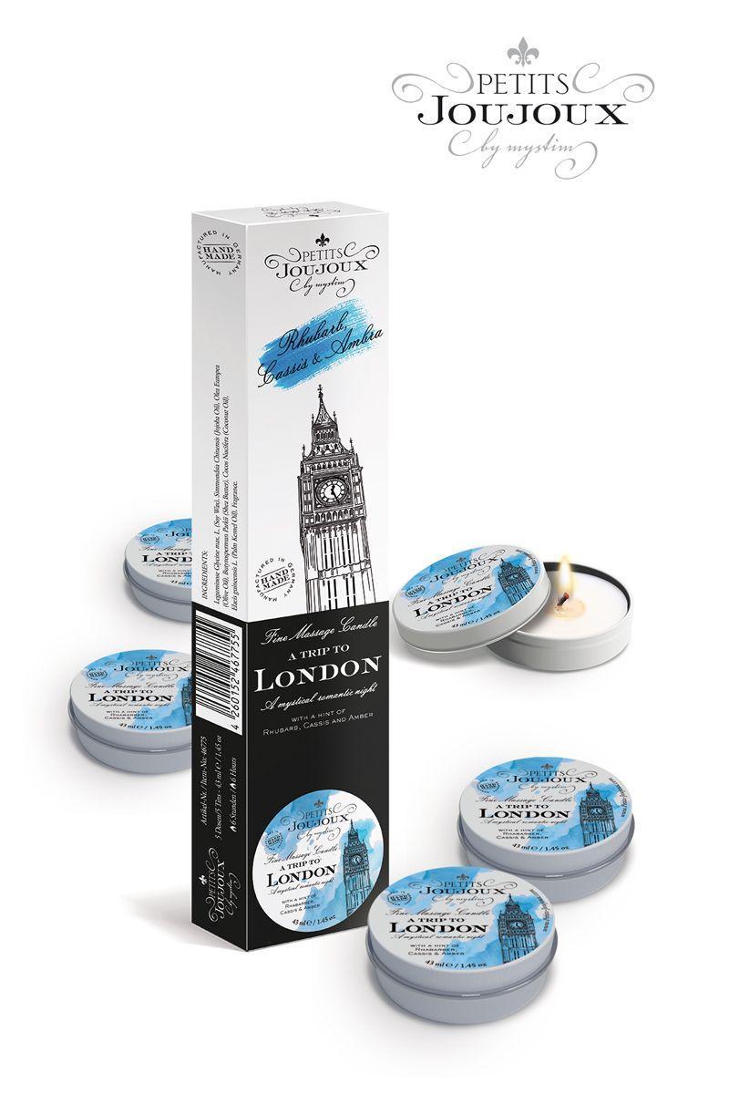 Набор из 5 свечей Petits Joujoux London с ароматом ревеня