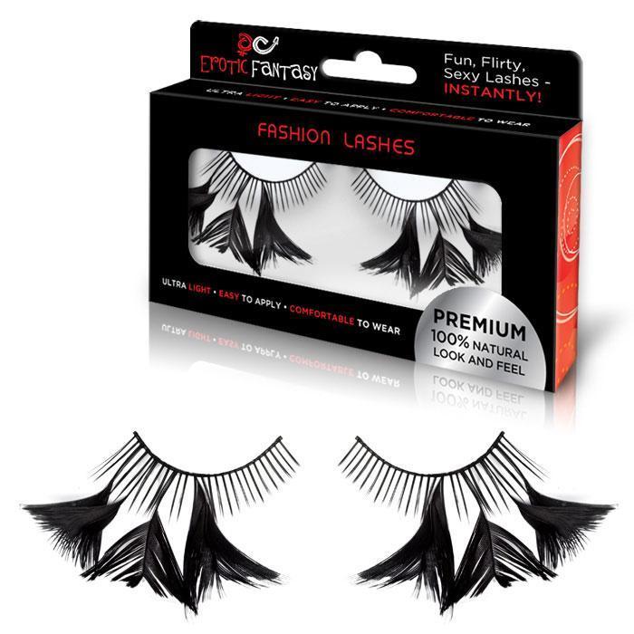 Накладные черные ресницы с перышками Flirty Feathers