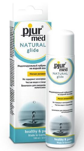 Нейтральный лубрикант на водной основе pjur MED Natural glide - 100 мл.-1629