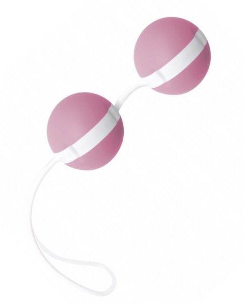 Нежно-розовые вагинальные шарики Joyballs Bicolored-8242