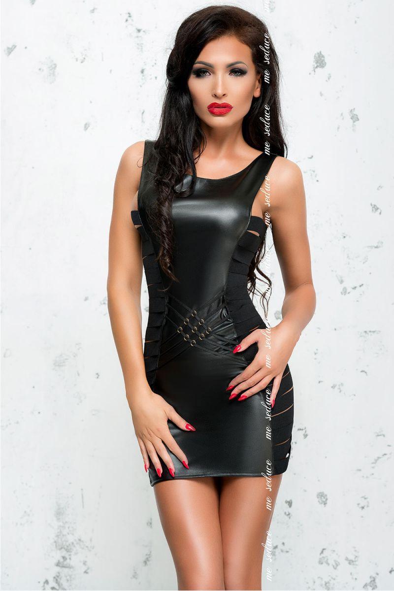 Облегающее платье с эффектом мокрого блеска Lea