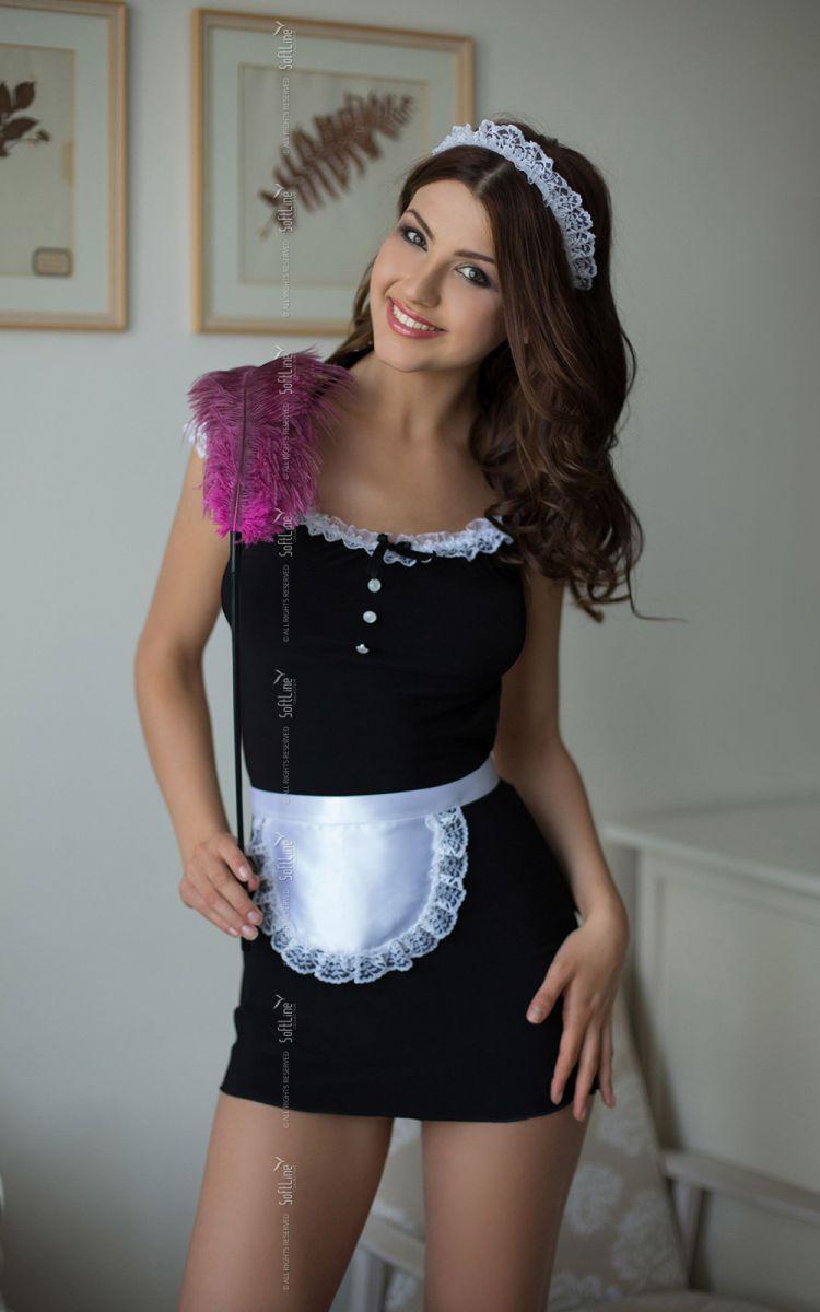 Платье горничной Jane с фартуком и кружевной повязкой на голову