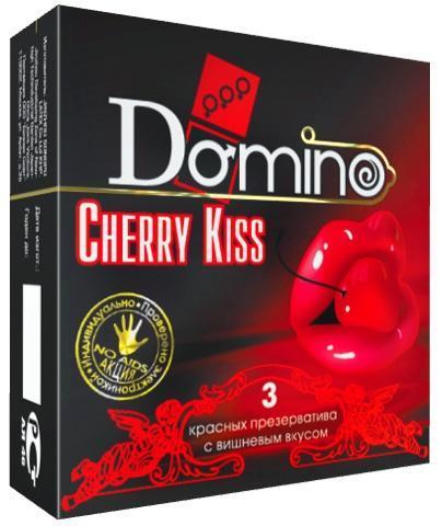 Презервативы Domino Cherry Kiss со вкусом вишни - 3 шт.