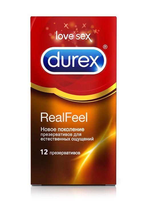 Презервативы Durex RealFeel для естественных ощущений - 12 шт.