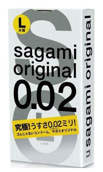 Презервативы Sagami Original 0.02 L-size увеличенного размера - 3 шт.