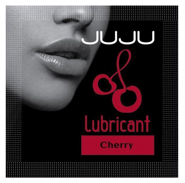 Пробник съедобного лубриканта JUJU с ароматом вишни - 3 мл.-11877