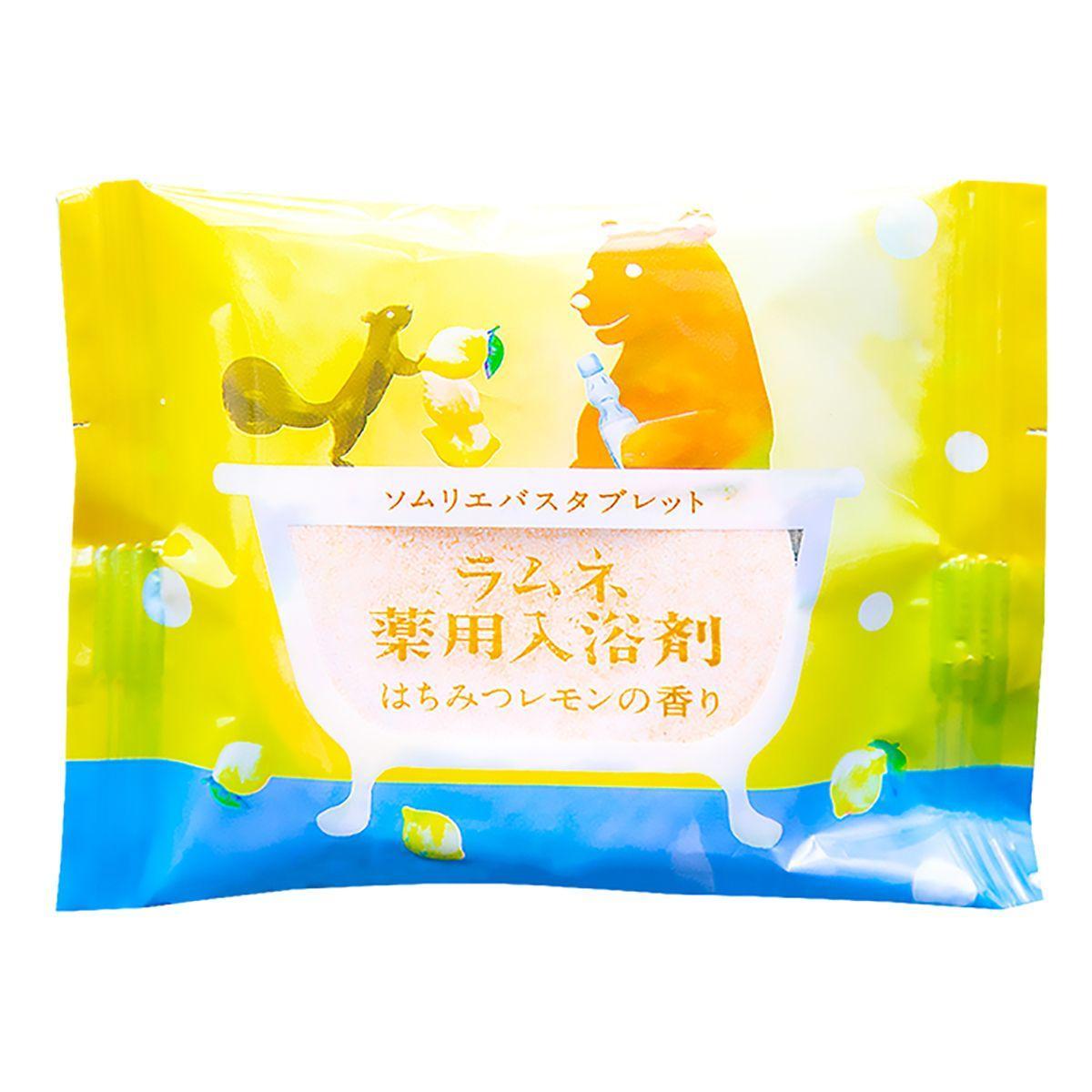 Расслабляющая соль-таблетка для ванны с ароматом меда и лимона - 40 гр.-6646