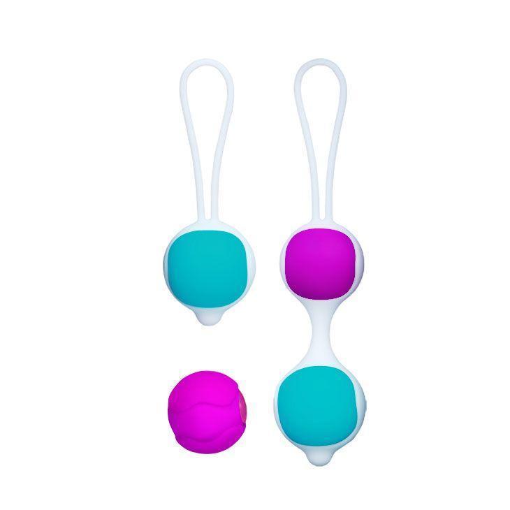 Разноцветные вагинальные шарики Orgasmic balls silicone-11258