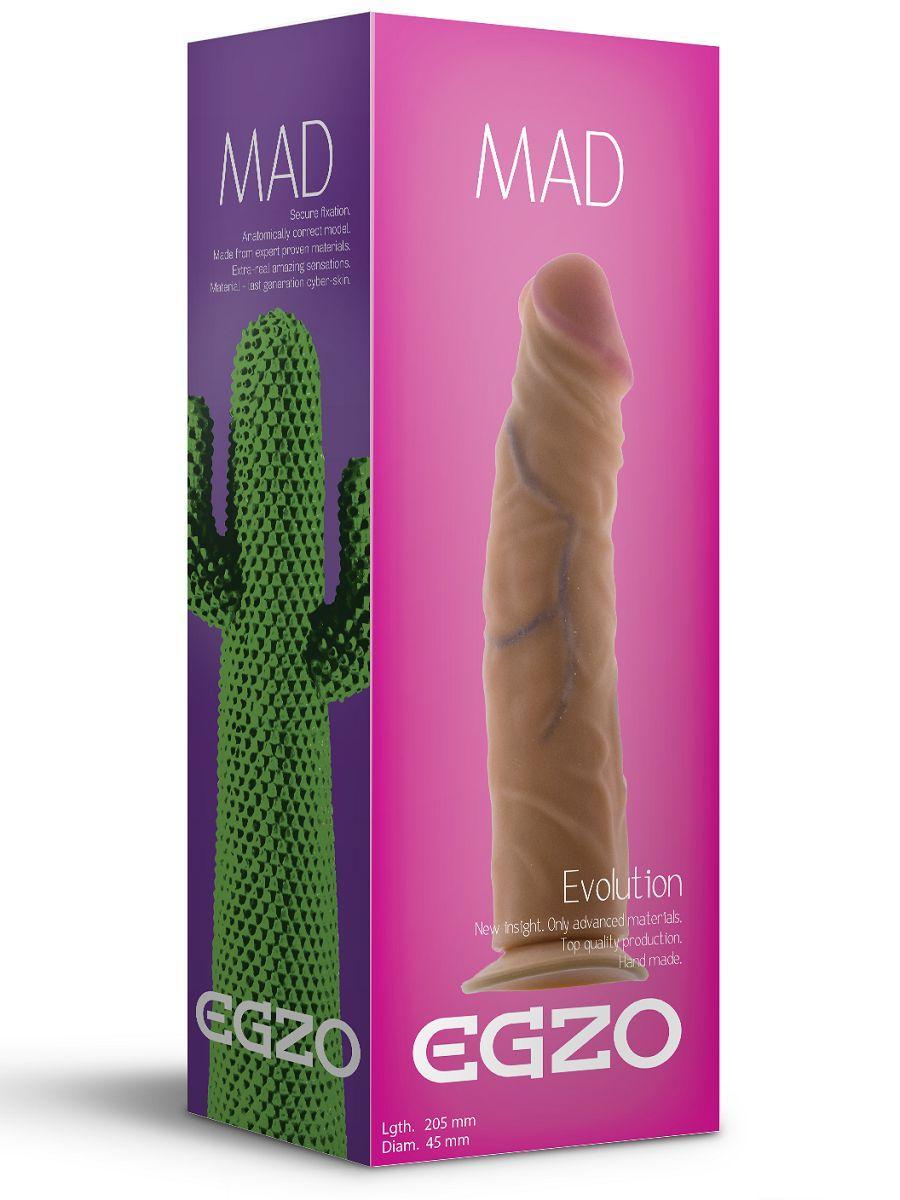 Реалистичный фаллоимитатор без мошонки Mad Cactus - 20
