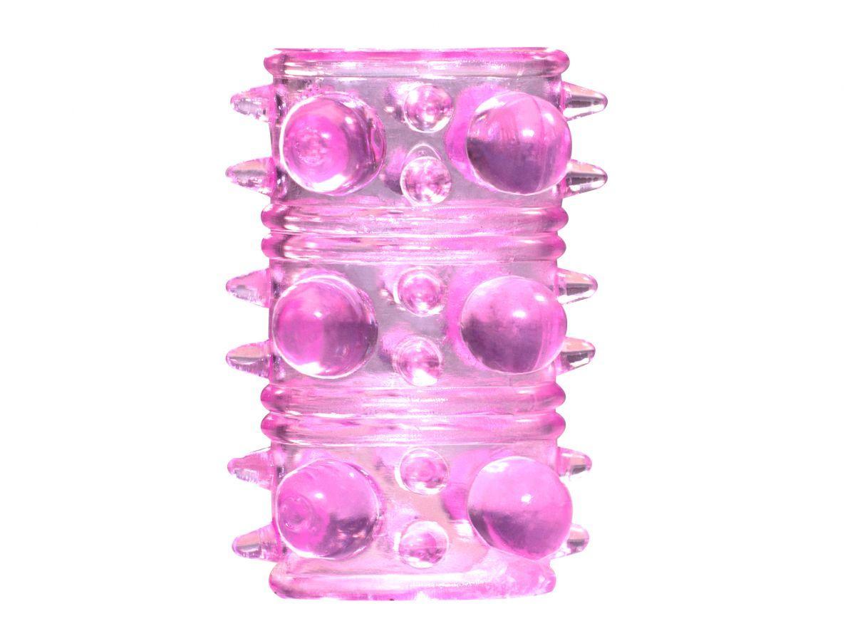 Розовая насадка на пенис Rings Armour-9120
