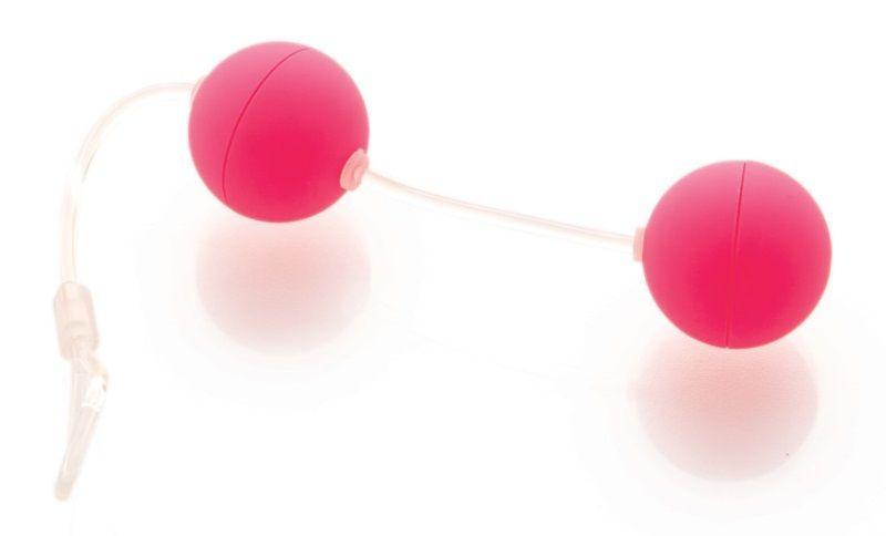Розовые вагинальные шарики на прозрачной сцепке-1752