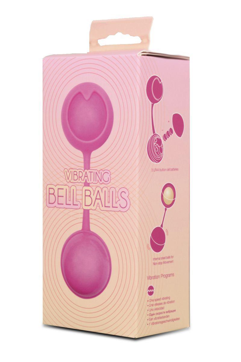 Розовые вагинальные шарики с вибрацией-9