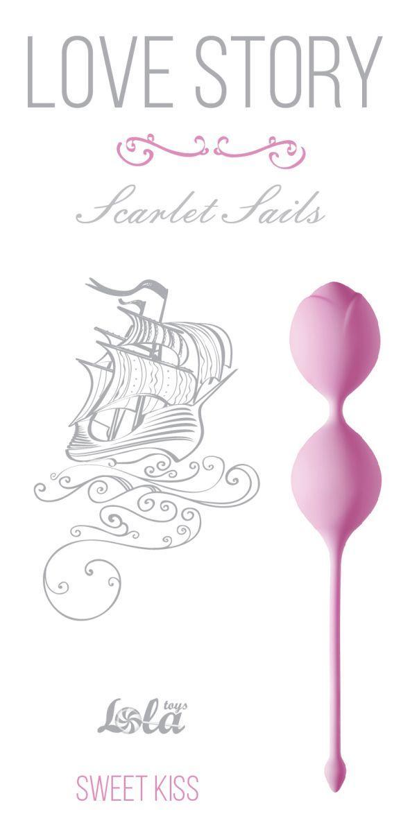 Розовые вагинальные шарики Scarlet Sails-5744