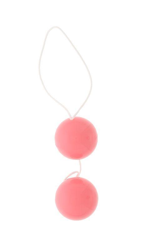 Розовые вагинальные шарики Vibratone DUO-BALLS-796