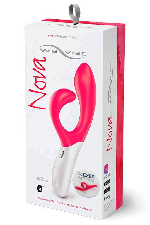 Розовый вибромассажёр с клиторальным отростком We Vibe Nova Pink - 21
