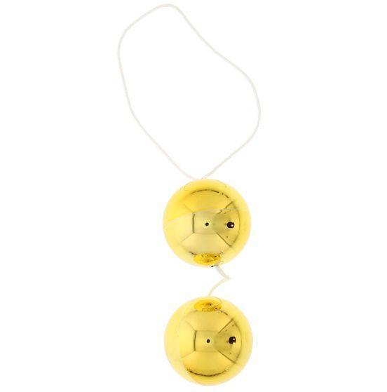 Шарики вагинальные золотые Vibratone dua-balls-794