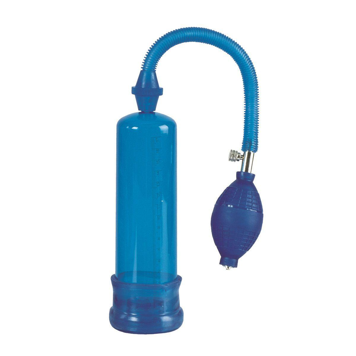 Синяя вакуумная помпа Head Coach Penis Pump-6808