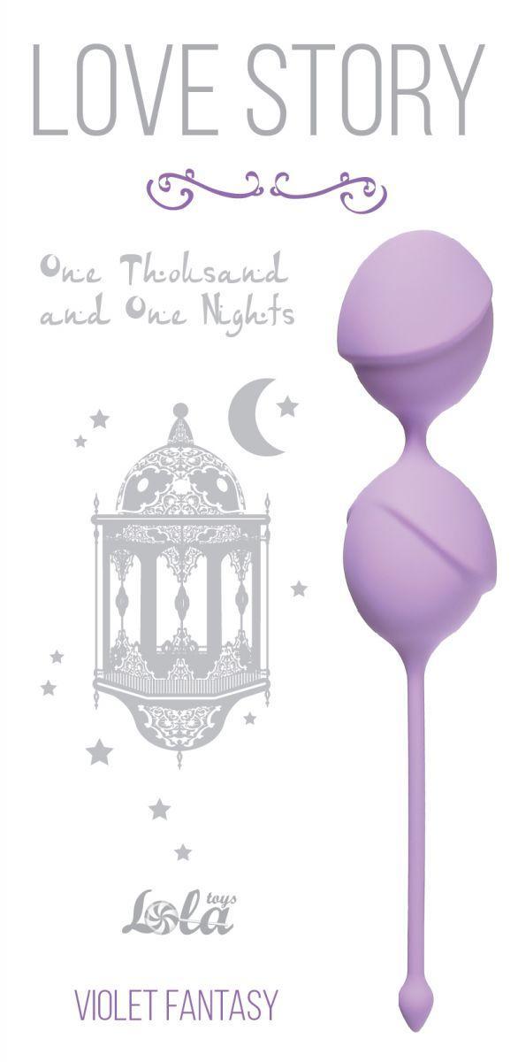 Сиреневые вагинальные шарики One Thousand and One Nights-5742