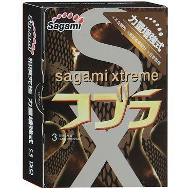 Суженные к основанию презервативы Sagami Xtreme Cobra - 3 шт.