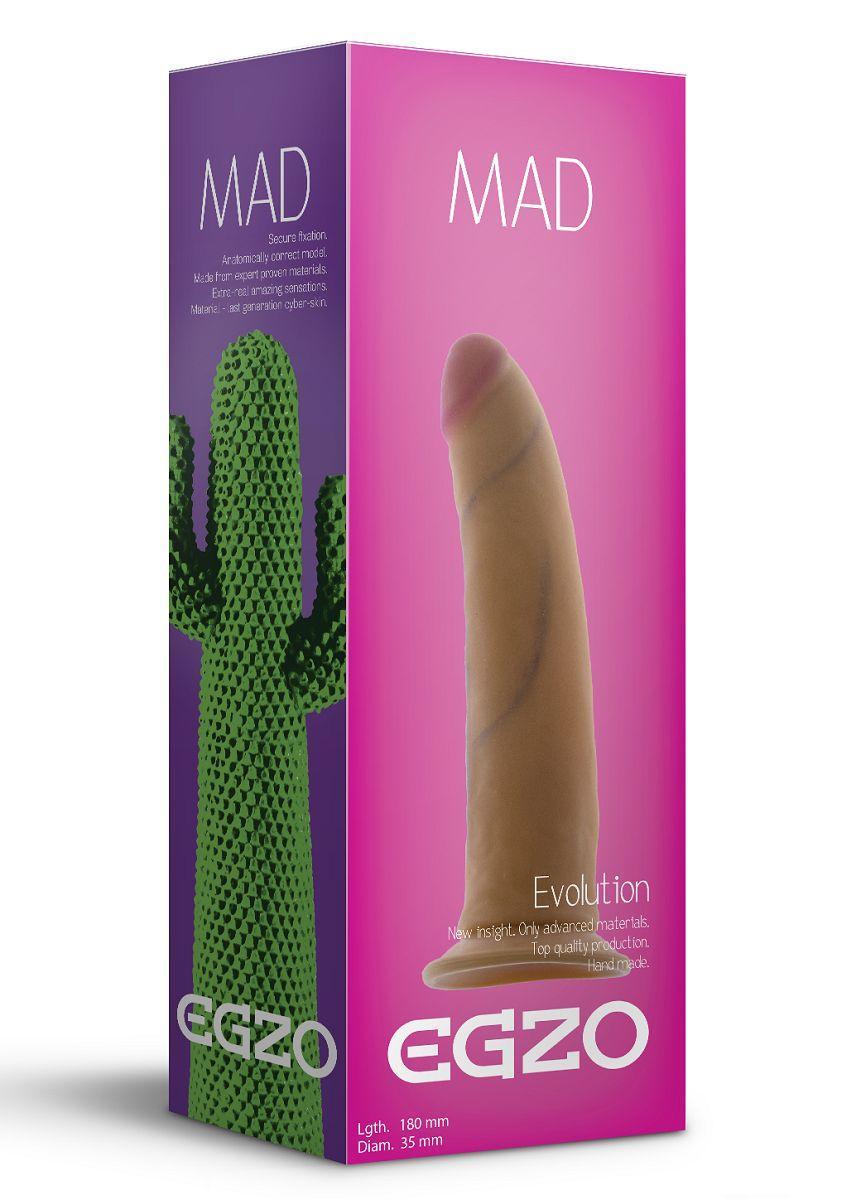 Телесный фаллоимитатор без мошонки Mad Cactus - 18 см.-3366
