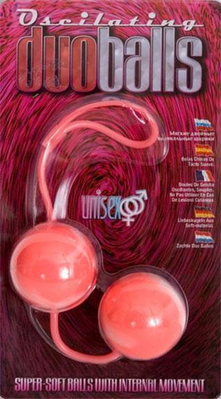 Вагинальные мягкие шарики MARBILIZED DUO BALLS PINK-802