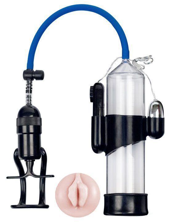 Вакуумная помпа Eroticon PUMP X7 с мини-вагиной и вибрацией-10147