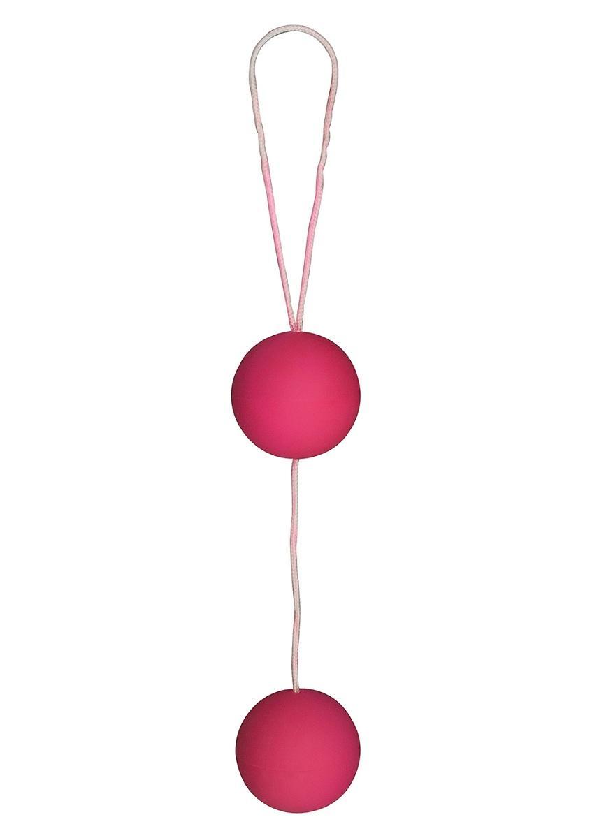 Веселые розовые вагинальные шарики Funky love balls-733