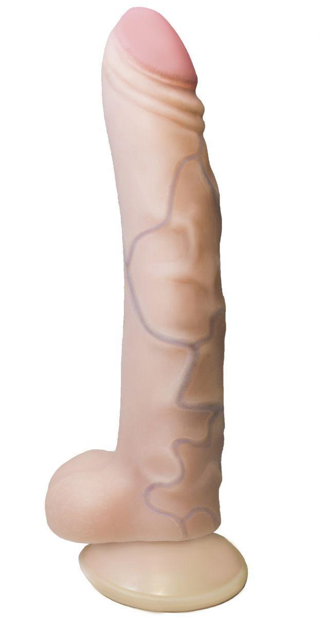 Вибратор REAL Standard с присоской - 17 см.-5229