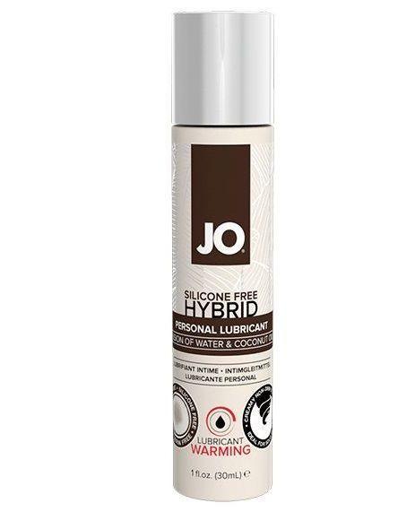 Водно-масляный лубрикант с разогревающим эффектом JO Silicone Free Hybrid Lubricant WARMING - 30 мл.-2818