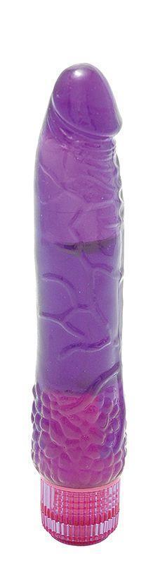Водонепроницаемый фиолетовый вибромассажер H2O PATRIOT WATERPROOF VIBRATOR - 19 см.-1531