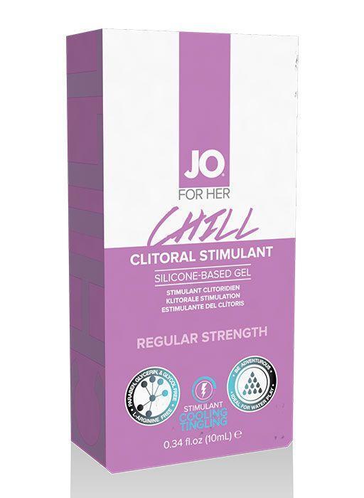 Возбуждающий гель мягкого действия JO CLITORAL CHILL - 10 мл.-5088