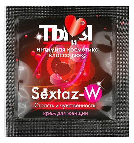 Возбуждающий крем для женщин Sextaz-W в одноразовой упаковке - 1