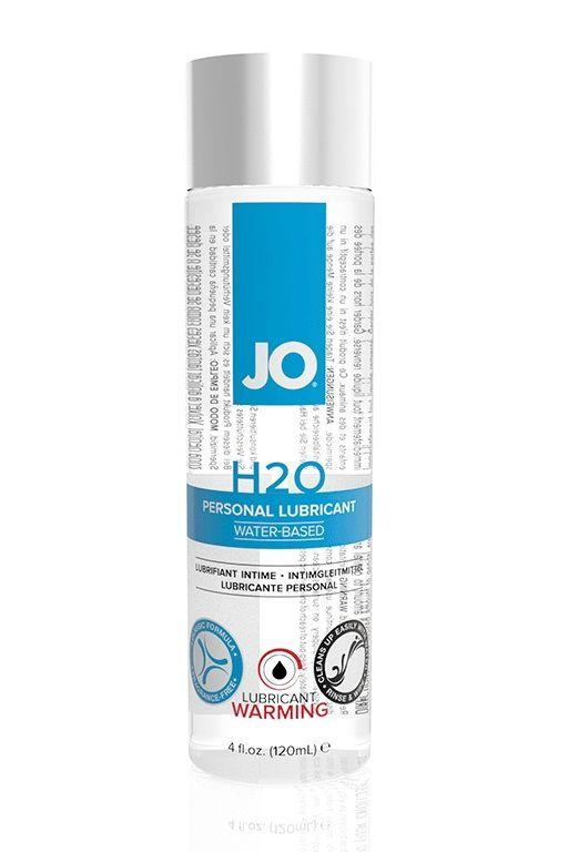 Возбуждающий лубрикант на водной основе JO Personal Lubricant H2O Warming - 120 мл.-2873