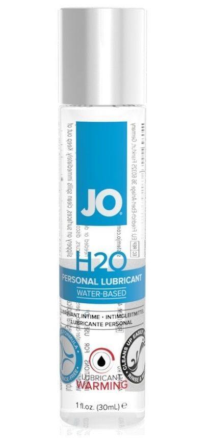 Возбуждающий лубрикант на водной основе JO Personal Lubricant H2O Warming - 30 мл.-6835