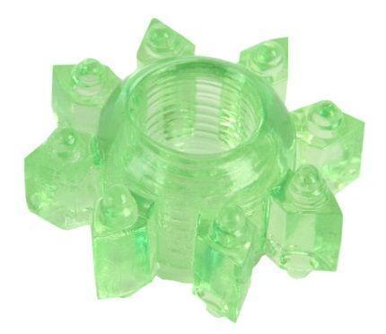 Зеленое эрекционное кольцо-звезда-839