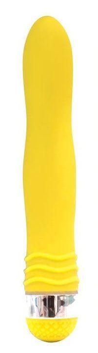 Желтый эргономичный вибратор Sexy Friend - 17