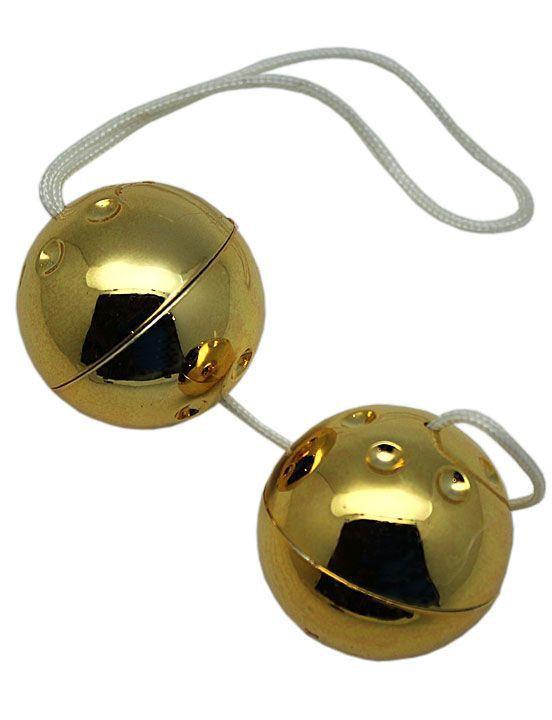 Золотистые шарики со смещённым центром тяжести-10062