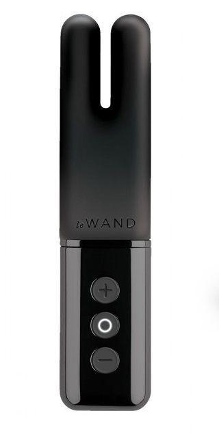 Чёрный двухмоторный мини-вибратор Le Wand Deux-278