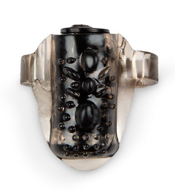 Черное эрекционное кольцо на член с вибрацией-2633