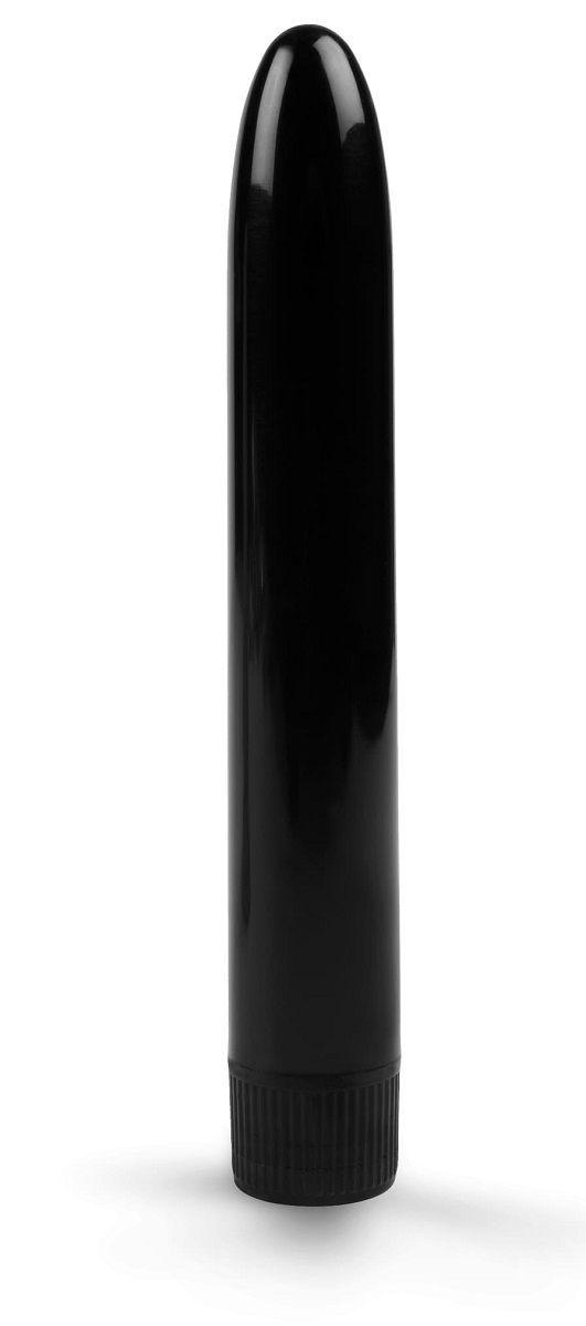 Черный гладкий вибратор - 15