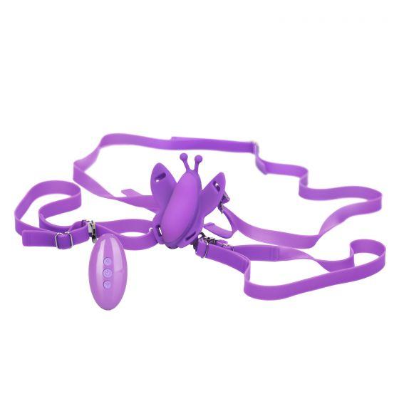 Фиолетовая вибробабочка на ремешках Silicone Remote Venus Butterfly-3436