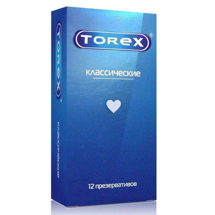 Гладкие презервативы Torex Классические - 12 шт.