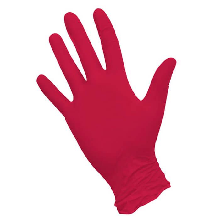Красные нитриловые перчатки Nitrimax размера L - 100 шт.(50 пар)-4201