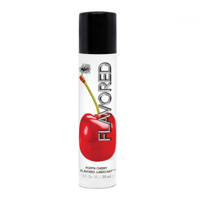 Лубрикант Wet Flavored Popp N Cherry с ароматом вишни - 30 мл.-3882