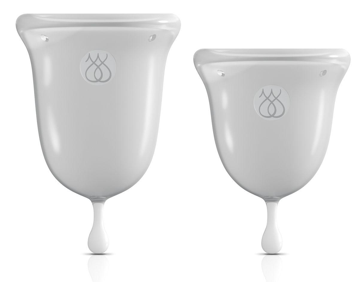 Набор из 2 прозрачных менструальных чаш Intimate Care Menstrual Cups-3866