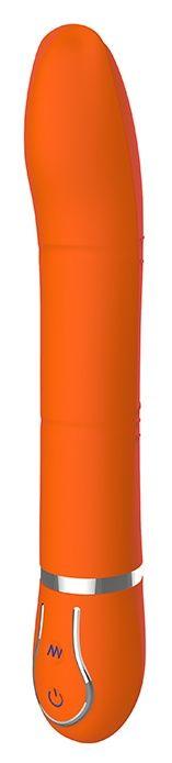 Оранжевый вибратор CRYSTAL CURIOSITY - 22 см.-186
