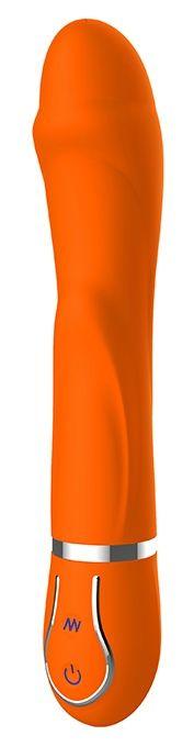 Оранжевый вибратор DIAMOND DARLING - 22 см.-188