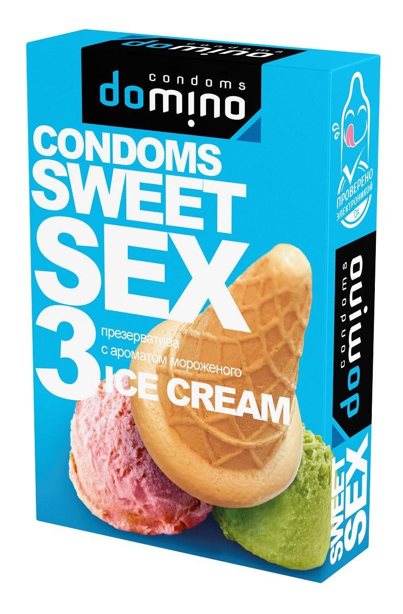 Презервативы для орального секса DOMINO Sweet Sex с ароматом мороженого - 3 шт.
