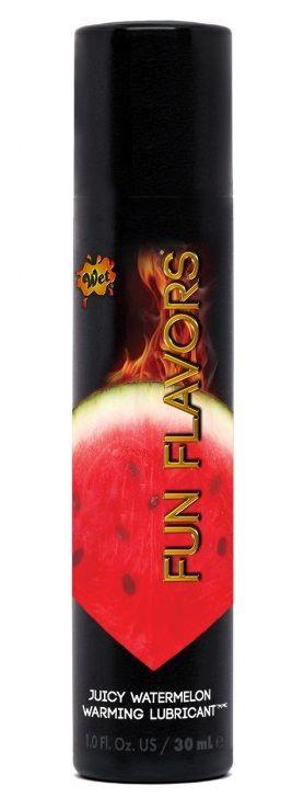 Разогревающий лубрикант Fun Flavors 4-in-1 Juicy Watermelon с ароматом арбуза - 30 мл.-773